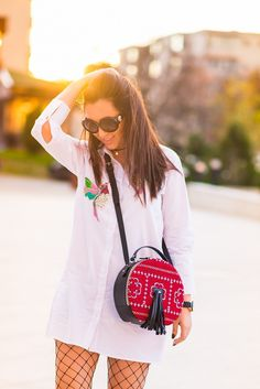 camasa-cu-insertii-si-bocanci-de-piele-2 Who What Wear, Sunny Days, Miu Miu, Sunnies, Traditional, Bags, Handbags, Sunglasses, Shades