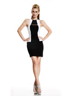 Look phenomenal in Johnathan Kayne This features a high neckline and sheer geometric keyhole. Embellished with beads on the sheer neckline. A mini dress is perfect for you night. Affordable Evening Gowns, Evening Dresses Online, Pageant Dresses, Homecoming Dresses, Bride Dresses, Black And White Evening Dresses, Light Up Dresses, Nye Dress, Short Dresses