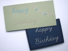 DIY bestickte Geburtstagskarten | embroidered Birthday Cards  www.karolin-buckl.de