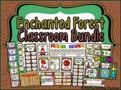 Enchanted Forest Classroom Bundle from The Teaching Treehouse on TeachersNotebook.com -  (649 pages)  - This enormous 649 page Enchanted Forest classroom décor bundle contains everything you need to make your room fun and cohesive!