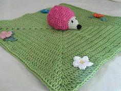 Hedgehog Security Blanket 100% Cotton Custom Made by IrisInspired