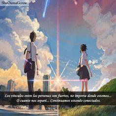 #kimi_no_na_wa Los vínculos son fuertes. #Anime #Frases_anime #frases