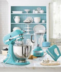 kitchen aid mixer, applianc, kitchen colors, tiffany blue, robin egg blue