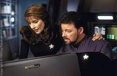 Marina Sirtis & Jonathan Frakes (Deanna Trol & William T. Riker - Star Trek)