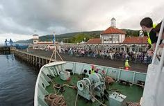 Arriving at the pier, Dunoon