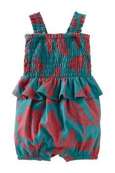 Durban Peplum Romper (Baby Girls) by Tea Collection on @HauteLook