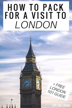 A list of things you need to pack when visiting London, including clothing and non-clothing items. These are important to pack for your trip to London.