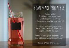 Homemade Pedialyte Recipe