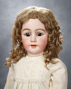 """German Bisque Child, 939, by Simon and Halbig with Original Luxurious Wig 1400/2100 36"""""""