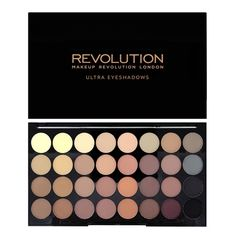 Makeup Revolution Ultra 32 Shade Eyeshadow Palette - Flawless Matte  - Click to view a larger image