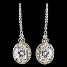 Affordable Elegance Bridal Elegant Clear Cz Crystal Drop Wedding And Formal Earrings 61 99