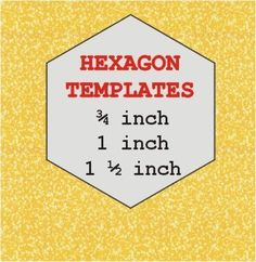 A very clever way to cut your own English paper piecing hexagon templates in three sizes