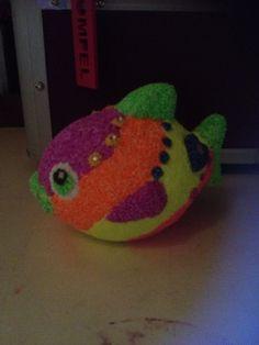 Foam clay fish