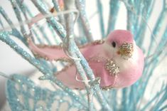 Pink Glittered Bird