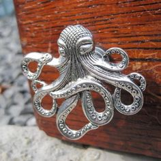 Octopus Cabinet Knobs in Silver