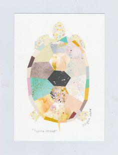 SET of 5, The Animal Collection, 5 x 7 art prints, nursery, triangle, elephant, giraffe, whale, series, geometric, colorful.