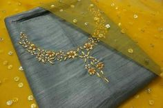To customize whatsapp 9043230015 for Saree, blouse and Kurtis Zardosi Embroidery, Embroidery On Kurtis, Kurti Embroidery Design, Embroidery Neck Designs, Bead Embroidery Patterns, Embroidery Suits, Embroidery Fashion, Salwar Neck Designs, Churidar Designs