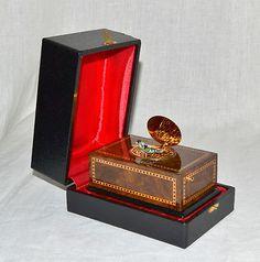 Swiss Reuge Musical Singing Bird Music Box Clockwork Automaton