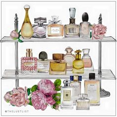 "More illustrations LINE BOTWIN ""girly illustrations"" #chic #fashion #girly #illustration #thelustlist #lust #List #pink #flowers #perfume #cosmetics #parfums #cosmétiques #fleurs #rose #dior #Valentino #gucci #armani"