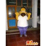 Déguisement d' #Omer #Simpson, célèbre personnage de la série les Simpson.  #SpotSound France, #Mascottes personnalisées et vente de #deguisements, #mascottes, #costumes, envoi gratuit dans le monde entier.