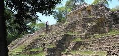 The ruins of Yaxchilan  Two acropolises with temples, grand staircases, and a palace dominate the site.  Legend has it that a headless sculpture of the god Yaxachtun at the site formerly terrified the local Lacandon people, who feared that the world would end when the head was replaced.