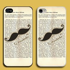 Vintage Le Moustache Custom iPhone 5 Case Cover. I hope they have these in i touch size.