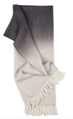 La Chance Fringe Ombre Grey Alpaca Throw