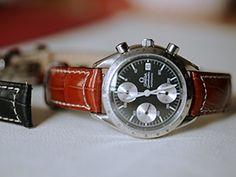 時計ベルトをモレラートのグットゥーゾに交換したOMEGA Speedmaster 1991