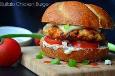 buffalo chicken burger...  #food  #recipes  #burgerrecipe