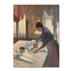 Woman Ironing 1876-87 by Edgar Degas Painting Print on Wrapped Canvas