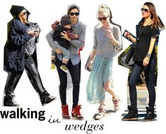 how to wear wedge sneakers like a celebrity