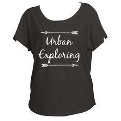 Urban Exploring Womens Off Shoulder Shirt