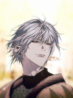 그림 : 네이버 블로그 Anime Demon Boy, Anime Elf, Hot Anime Boy, Anime Boys, Final Fantasy Artwork, Final Fantasy Xiv, Anime Fantasy, Character Inspiration, Character Art