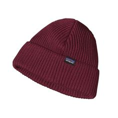 Patagonia Fisherman\'s Rolled Beanie - Oxblood Red OXRD Emmerson