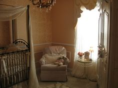 vintage style with pale creams and pinks (and the slate Bratt Venetian)
