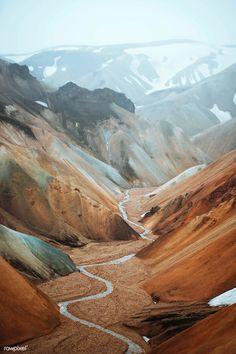 Download premium image of View of Landmannalaugar in the Fjallabak Nature