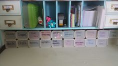 Reuse empty Crystal Lite containers to organize your desk!