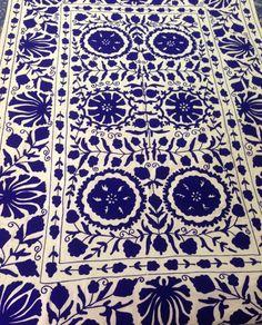 Handmade antique suzani throw vintage uzbek suzani bedcover suzani bedspread #Handmade #Traditional