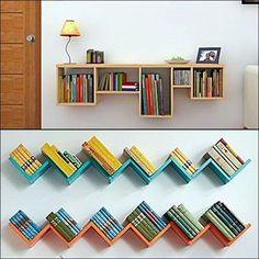 57 new ideas for diy headboard bookshelf apartments Creative Bookshelves, Bookshelves Kids, Bookshelf Design, Wall Shelves Design, Diy Bookcases, Kids Book Shelves, Small Shelves, Bookshelf Headboard, Bookshelves In Bedroom