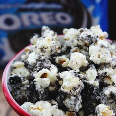 Oreo Popcorn - Quick & Easy, OREO® Cookies, white chocolate chips, popped popcorn