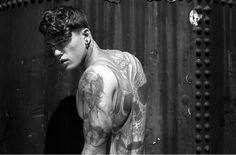 Model Stephen James for Steam Fashion by James Augustus