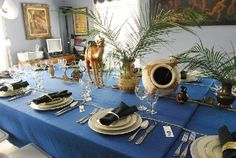 Three Fantastic Authentic Passover Tablescapes by Kineret Spector | Kosher Recipes and Jewish Table Settings