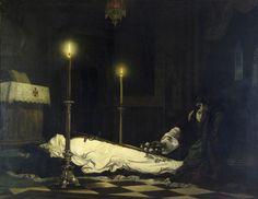Viktor Madarász (1840–1917), Ladislaus Hunyadi Mourning - 1859