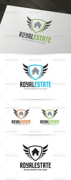 Royal Real Estate Logo — Vector EPS #professional #home • Available here → https://graphicriver.net/item/royal-real-estate-logo/5922281?ref=pxcr
