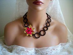 inserzione di Etsy su https://www.etsy.com/it/listing/53895899/bridesmaids-turkish-oya-brown-crochet