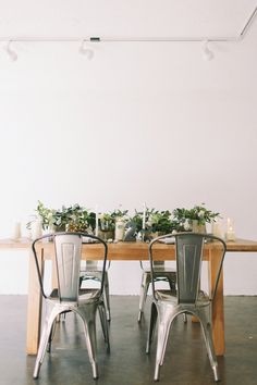 Chic, modern industrial wedding inspiration // see more: http://theeld.com/1yLN2Ug