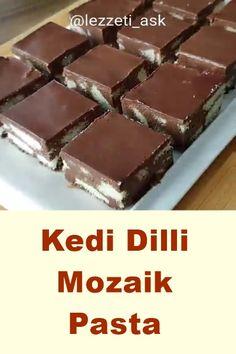 Kedi Dilli Mozaik Pasta - Pin This Tiramisu Dessert, Pasta Recipes, Cake Recipes, Yummy Recipes, Dessert Light, Pasta Cake, Brownies From Scratch, Food Places, Healthy Foods To Eat