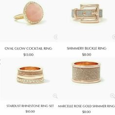 Rings from charming charlie