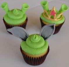 8. Shrek: Shrek, Donkey and Princess Fiona are all green cupcakes. Wait...Donkey's an Ogre?