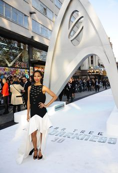 Zoe Saldana at the premiere for STAR TREK INTO DARKNESS in Leicester Square, London, May 2